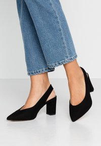 Dorothy Perkins Wide Fit - WIDE FIT EVERLEY COURT - Escarpins - black - 0