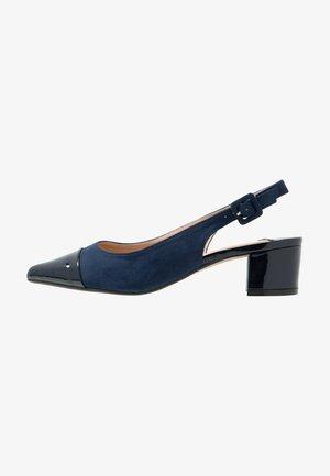 WIDE FIT DARLING SLINGBACK BLOCK HEEL COURT - Classic heels - navy