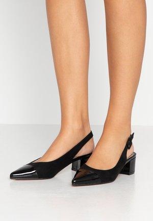 WIDE FIT DARLING SLINGBACK BLOCK HEEL COURT - Classic heels - black