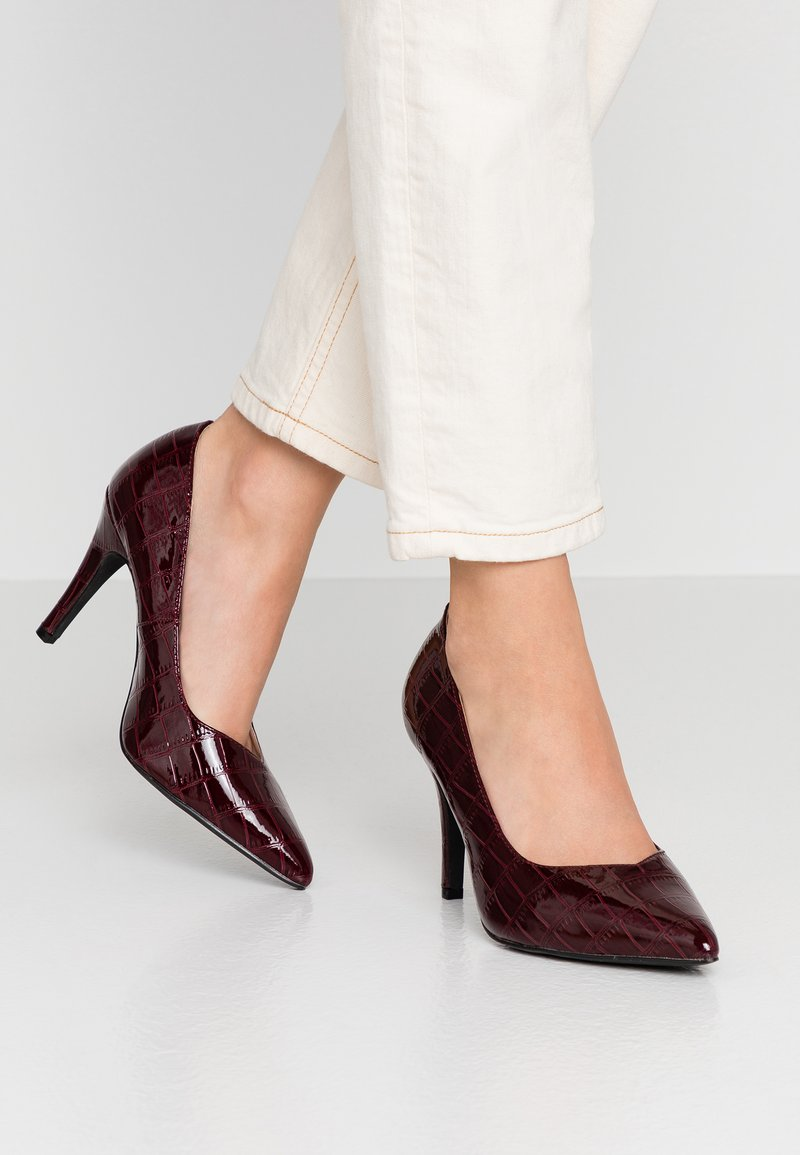 Dorothy Perkins Wide Fit - WIDE FIT DRAKE COURT - High heels - oxblood