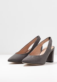 Dorothy Perkins Wide Fit - WIDE FIT EVERLEY  - Tacones - grey - 4