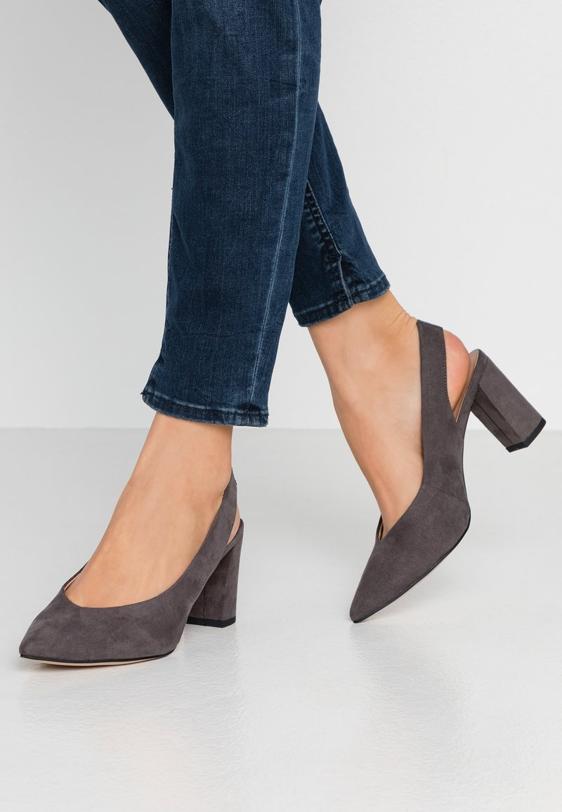Dorothy Perkins Wide Fit - WIDE FIT EVERLEY  - Tacones - grey