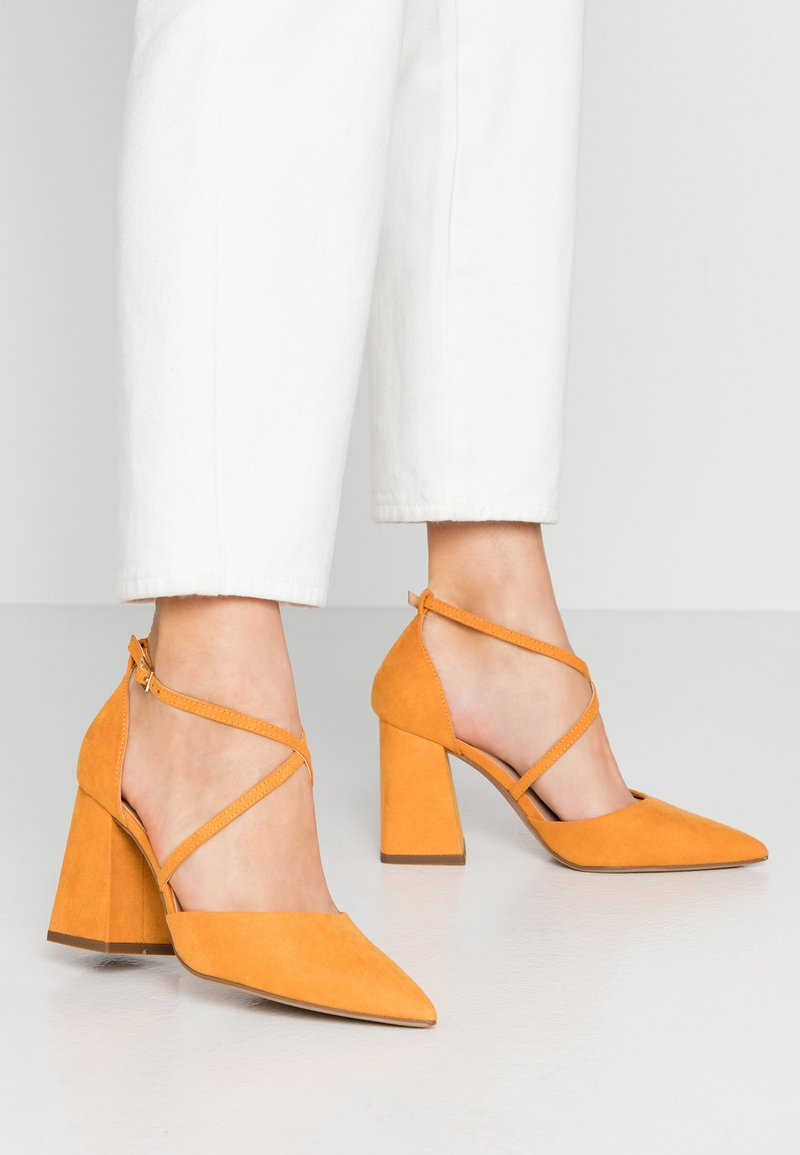Dorothy Perkins Wide Fit - WIDE FIT DARIA - Tacones - yellow
