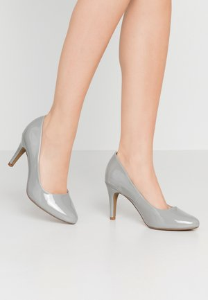 WIDE FIT DEEDEE ALMOND TOE COURT - High heels - taupe