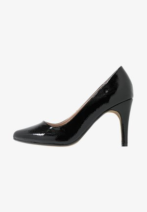 WIDE FIT DEEDEE ALMOND TOE COURT - High heels - black