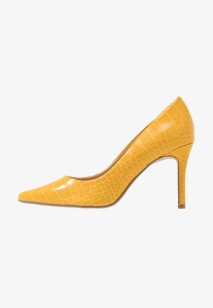 WIDE FIT DELE COURT - High heels - yellow
