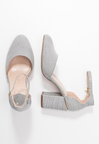 Dorothy Perkins Wide Fit - WIDE FIT DEBS ROUND TOW TWO PART COURT - Szpilki - grey - 3