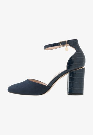 WIDE FIT DEBS ROUND TOW TWO PART COURT - Højhælede pumps - navy