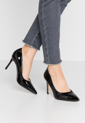 WIDE FIT DELE POINT COURT - Escarpins à talons hauts - black