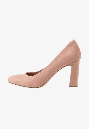 WIDE FIT DIANA ROUND TOE METAIL BLOCK - High Heel Pumps - blush