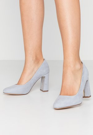WIDE FIT DIANA ROUND TOE METAIL BLOCK - Escarpins à talons hauts - blue