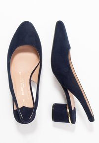 Dorothy Perkins Wide Fit - WIDE FIT DOLLAR CYCLINDER HEEL SLINGBACK COURT - Klassiske pumps - navy - 3