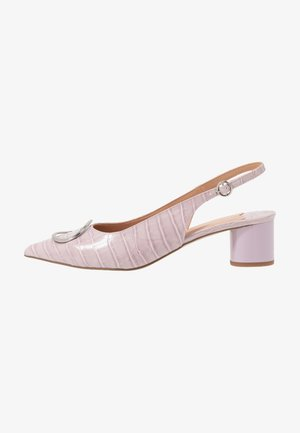 WIDE FIT EMMA RING LOW BLOCK SLING - Classic heels - lilac