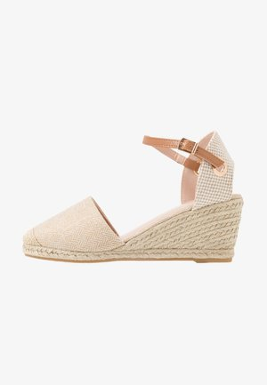 WIDE FIT ROSE PART - Espadrilles - gold
