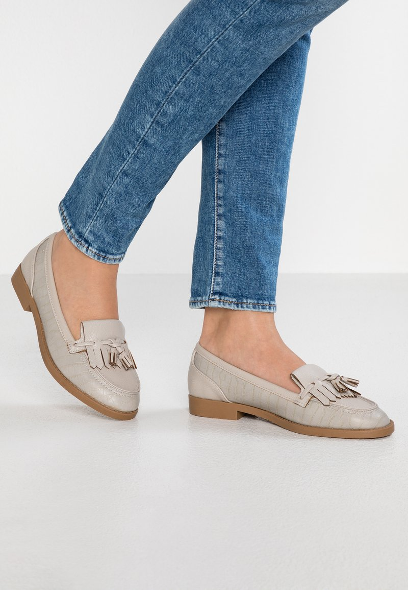 Dorothy Perkins Wide Fit - WIDE FIT LAURIE - Slip-ons - grey