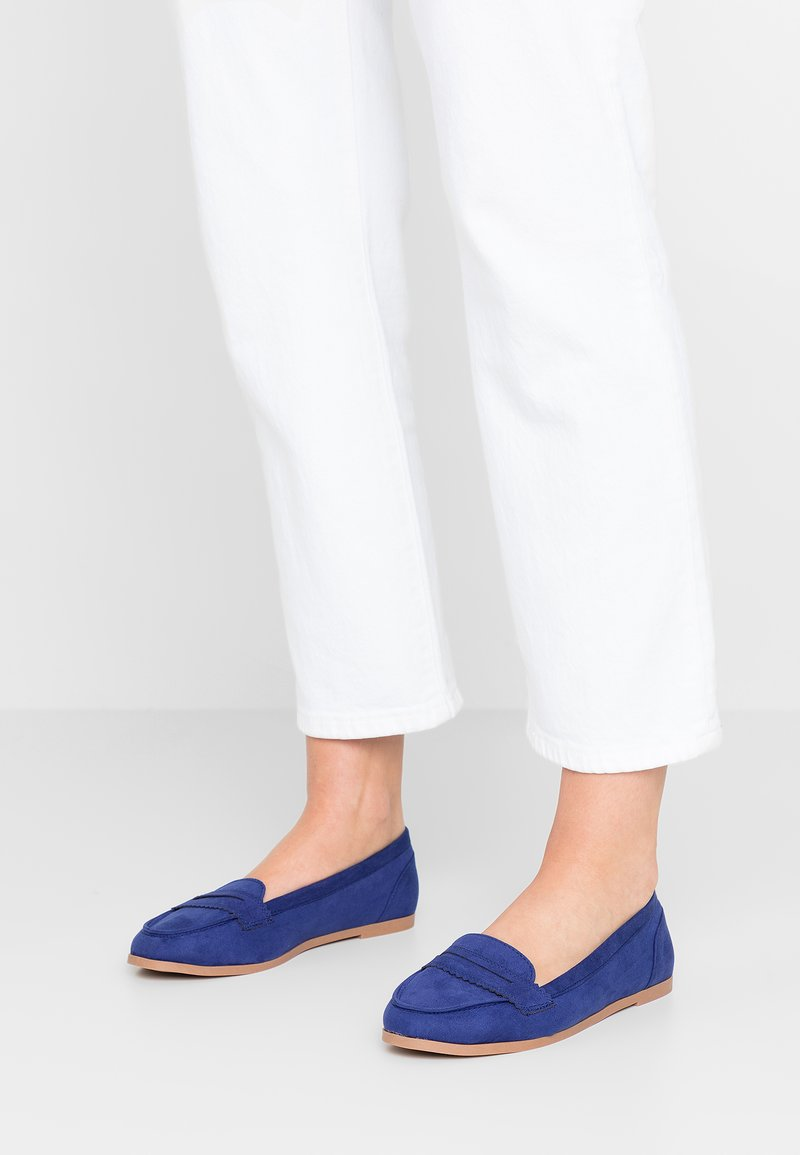Dorothy Perkins Wide Fit - WIDE FIT LACEY - Slip-ons - blue