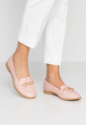 WIDE FIT LENKA TWIST TRIM LOAFER - Instappers - blush