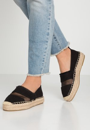 WIDE FIT COSMIC - Espadrilky - black