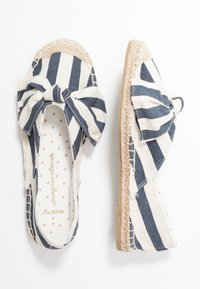 Dorothy Perkins Wide Fit - WIDE FIT CAROLINA BOW TACKED - Espadrilles - navy - 3