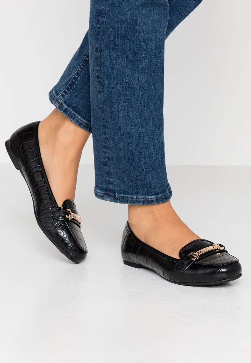 Dorothy Perkins Wide Fit - WIDE FIT LAIR - Slipper - black