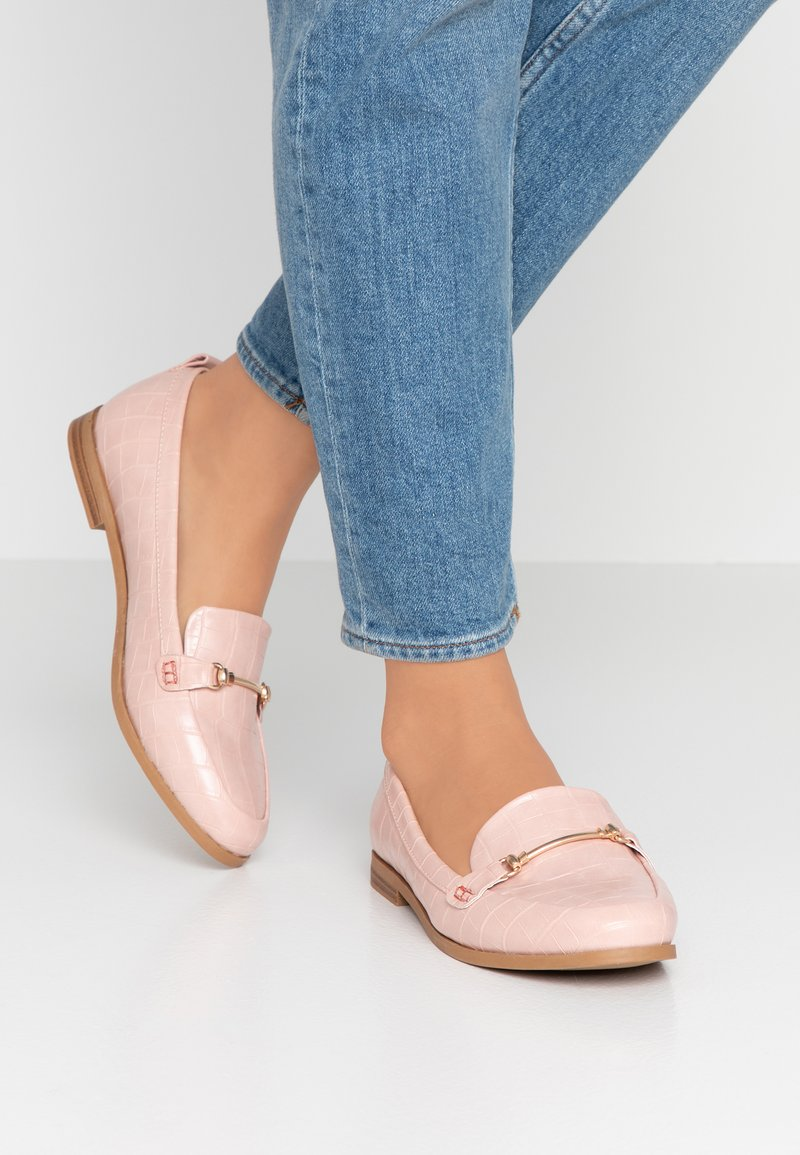 Dorothy Perkins Wide Fit - WIDE FIT LUNA SNAFFLE LOAFER - Instappers - blush