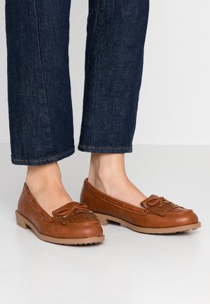WIDE FIT LETTY LOAFER - Nazouvací boty - tan