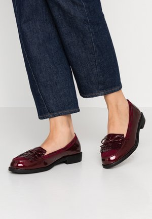 WIDE FIT LETTY LOAFER - Slip-ons - burgundy