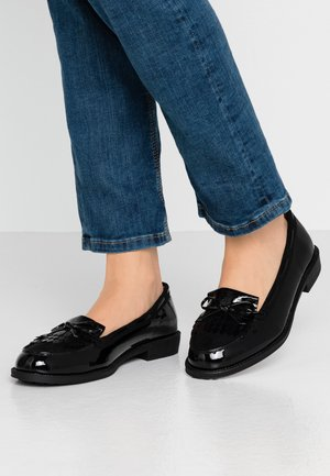 WIDE FIT LETTY LOAFER - Slip-ons - black