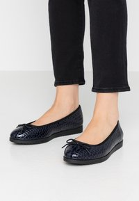 Dorothy Perkins Wide Fit - WIDE FIT PANTHER - Baleríny - navy - 0