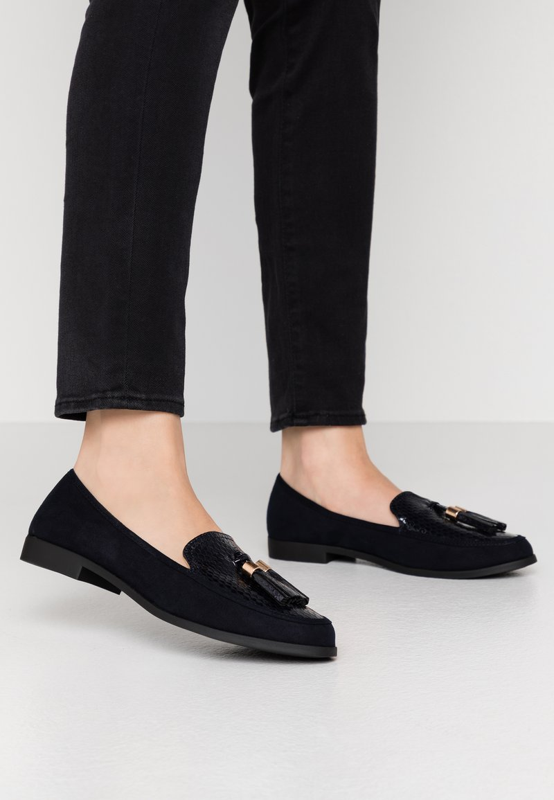 Dorothy Perkins Wide Fit - WIDE FIT LILLE LOAFER - Slip-ons - navy