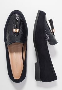 Dorothy Perkins Wide Fit - WIDE FIT LILLE LOAFER - Slip-ons - navy - 3
