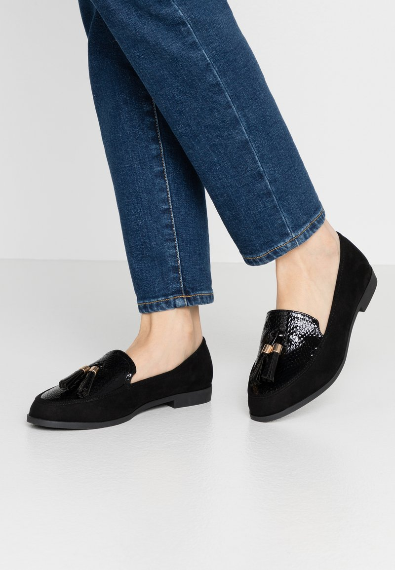Dorothy Perkins Wide Fit - WIDE FIT LILLE LOAFER - Scarpe senza lacci - black