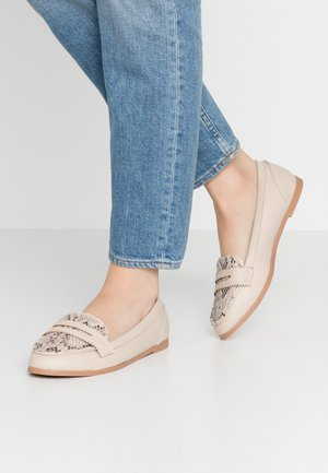 WIDE FIT LOYLE LOAFER - Slip-ons - cream
