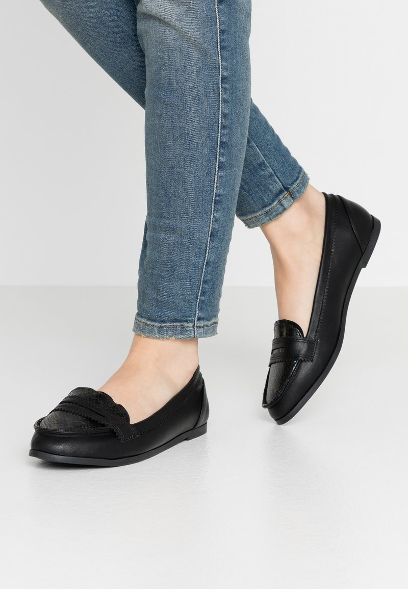 Dorothy Perkins Wide Fit - WIDE FIT LOYLE LOAFER - Scarpe senza lacci - snake