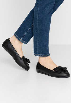 WIDE FIT LATINO FRINGE LOAFER - Slip-ons - black