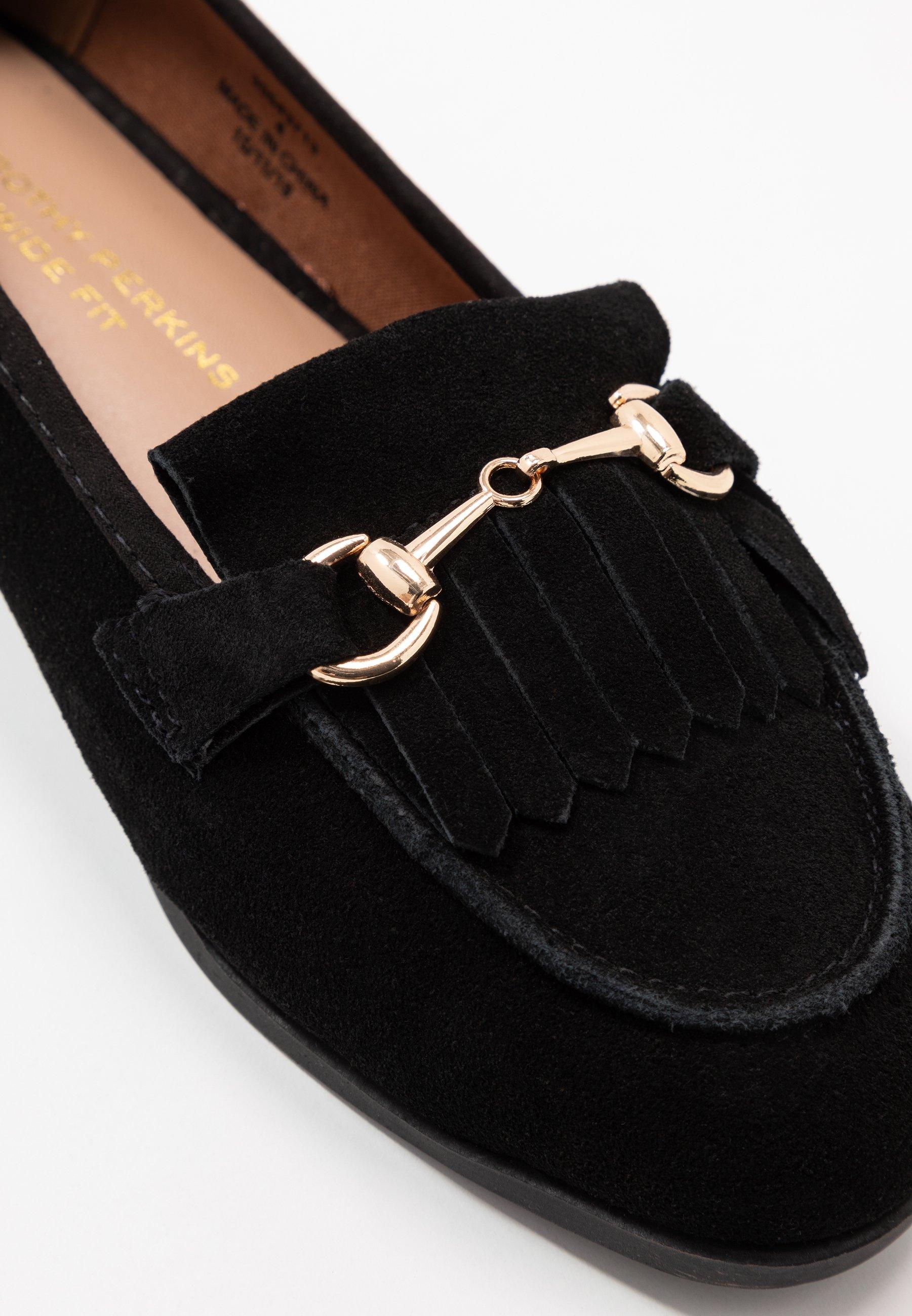 Dorothy Perkins Wide Fit WIDE FIT LIME LOAFER - Slippers - black