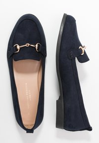 Dorothy Perkins Wide Fit - WIDE FIT LULA LOAFER - Scarpe senza lacci - navy - 3