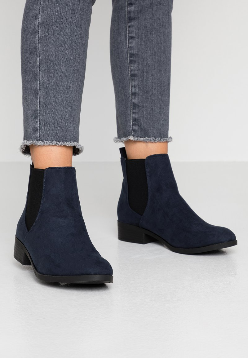 Dorothy Perkins Wide Fit - WIDE FIT MORGAN CHELSEA  - Ankle boots - navy