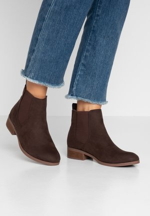WIDE FIT MORGAN CHELSEA  - Ankelboots - choc