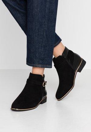 WIDE FIT MINA TIPPED JODPHUR  - Kotníková obuv - black