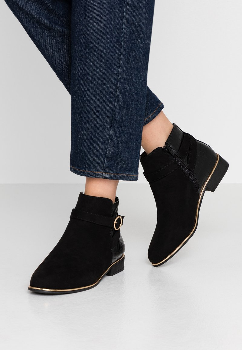Dorothy Perkins Wide Fit - WIDE FIT MINA TIPPED JODPHUR  - Ankle boots - black