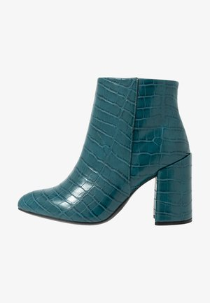 WIDE FIT ABSOLUTE - Ankelboots med høye hæler - teal