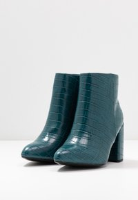 Dorothy Perkins Wide Fit - WIDE FIT ABSOLUTE - High heeled ankle boots - teal - 4