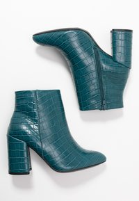 Dorothy Perkins Wide Fit - WIDE FIT ABSOLUTE - High heeled ankle boots - teal - 3