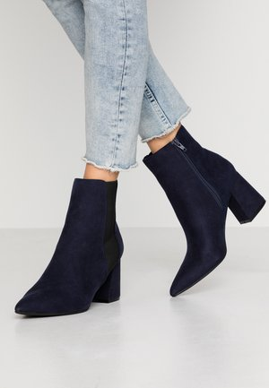 WIDE FIT AMICA CHELSEA - Ankle boots - navy