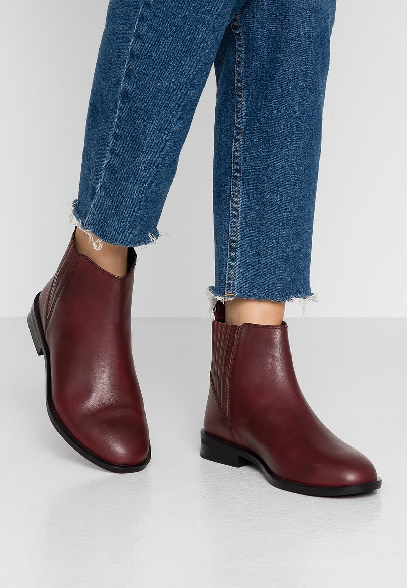 Dorothy Perkins Wide Fit - WIDE FIT OSLO CHELSEA - Boots à talons - burgundy