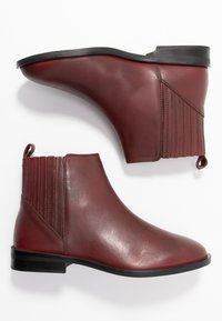 Dorothy Perkins Wide Fit - WIDE FIT OSLO CHELSEA - Boots à talons - burgundy - 3