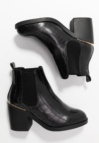 Dorothy Perkins Wide Fit - WIDE FIT ANSTY ELASTIC HEELED CHELSEA - Ankle boot - black - 3