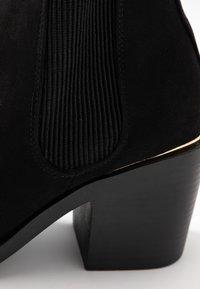 Dorothy Perkins Wide Fit - WIDE FIT ANSTY ELASTIC HEELED CHELSEA - Ankelstøvler - black - 2