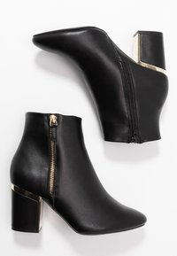 Dorothy Perkins Wide Fit - WIDE FIT ASTRID HEEL ZIP - Boots à talons - black - 3